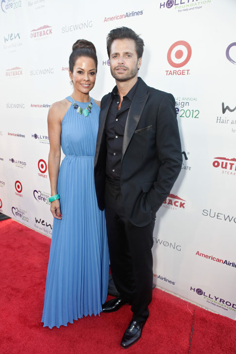'Dancing With The Stars' co-host Brooke Burke Charvet and husband David Charvet attend the HollyRod Foundation's 14th Annual Design Care on July 21, 2012 in Malibu, California.
