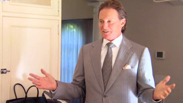 Bruce Jenner appears in a scene from the television show 'Keeping Up with the Kardashians.'