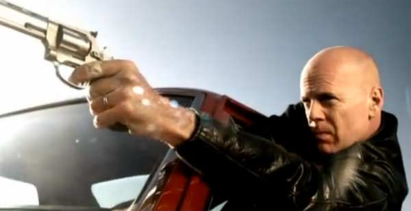 Bruce Willis appears in the Gorillaz&#39;s music video &#39;Stylo,&#39; released in 2010. Willis appears in the video driving a 1968 Chevy El Camino, and puts on his hardcore persona as he shoots at the Gorillaz in an intense car chase. Willis is known for his role in films such as &#39;Die hard,&#39; &#39;Pulp Fiction&#39; and &#39;Sin City.&#39; <span class=meta>(Parlophone &#47; EMI Records Ltd.)</span>