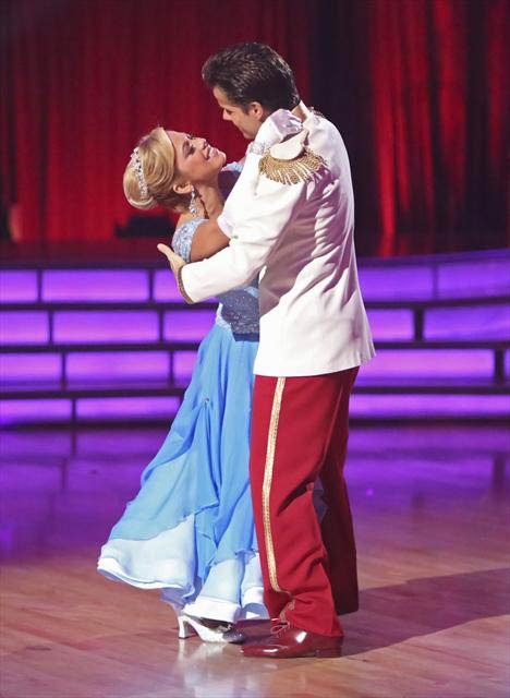Disney Channel actress Sabrina Bryan and her partner Louis Van Amstel received 29 out of 30 points from the judges for their Waltz on &#39;Dancing With The Stars: All-Stars,&#39; which aired on October 23, 2012. <span class=meta>(ABC Photo)</span>