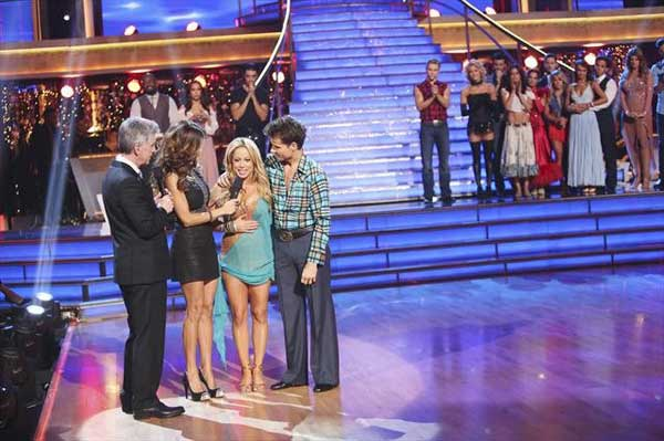 "<div class=""meta ""><span class=""caption-text "">Disney Channel actress Sabrina Bryan and her partner Louis Van Amstel react to being eliminated on 'Dancing With The Stars: The Results Show' on October 30, 2012. The two received 30 out of 30 points from the judges for their Rumba on 'Dancing With The Stars: All-Stars,' which aired on October 29, 2012. (ABC Photo)</span></div>"