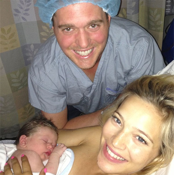 "<div class=""meta ""><span class=""caption-text "">Michael Buble and his wife Lusiana welcomed their first child, a baby boy named Noah, on Aug. 27, 2013, as seen in this photo the singer posted on Instagram. (instagram.com/p/dh2RkxJS0v/ instagram.com/michaelbuble)</span></div>"
