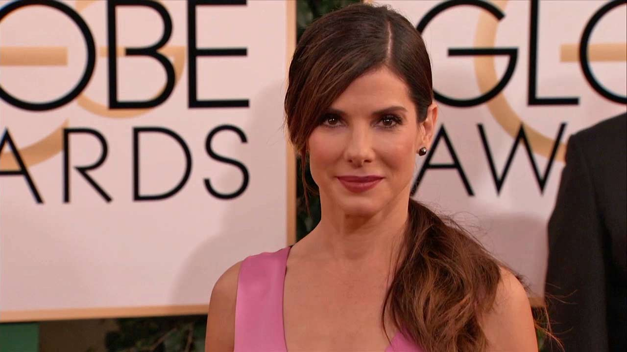 Actress Sandra Bullock arrives at the Oscars at the Dolby Theatre on Sunday Feb. 24, 2013, in Los Angeles.