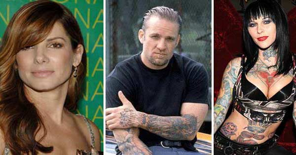 "<div class=""meta ""><span class=""caption-text "">Sandra Bullock and ex-husband Jesse James called it quits to their nearly 5-year marriage amid allegations of infidelity on James' part in March 2010. It was reported at the time that he had cheated on her with woman such as tattoo model Michelle 'Bombshell' McGee. James later admitted in media interviews that he was unfaithful to Bullock, his third wife. James entered rehab in hopes of reconciling with Bullock, but she filed for divorce in April 2010. It was finalized the following June. Bullock is raising her adopted son Louis - a New Orleans baby she and James initially adopted together - as a single mother.  James later began dating tattoo artist and reality star Kat Von D and announced in January 2011 that they are engaged. The two said the following July they had broken up and a month later, announced their had reconciled. They then split again in September. On Nov. 13, 2011, Von D said on her Facebook page that James had cheated on her while they were dating. He has not commented. (flickr.com/photos/ritab38315/ / facebook.com/pages/Jesse-James/54519056441  / michellebombshell.com/)</span></div>"
