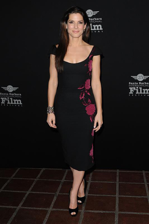 Sandra Bullock wears a L&#39;Wren Scott dress at the 2010 Santa Barbara International Film Festival in Santa Barbara, California on Feb. 5, 2010. <span class=meta>(Sara De Boer &#47; Startraksphoto.com)</span>