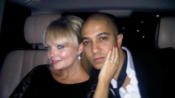 Emma Bunton of the Spice Girls and her boyfriend, singer Jade Jones, appear in a photo posted on her Twitter page o