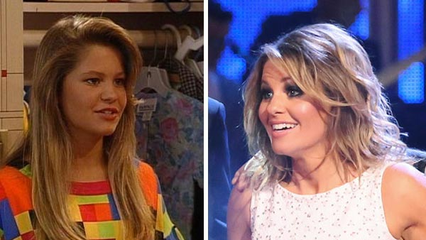 Candace Cameron Bure appears in a scene from the TV series 'Full House.' / Candace Cameron Bure appears on the season 18 premiere of ABC's 'Dancing With The Stars' on March 17, 2014.