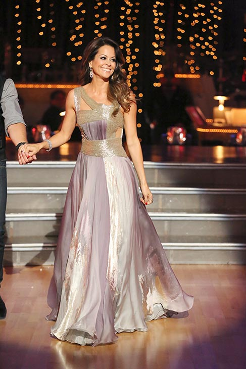 "<div class=""meta image-caption""><div class=""origin-logo origin-image ""><span></span></div><span class=""caption-text"">'Dancing With The Stars' co-host Brooke Burke Charvet appears on the season premiere on March 18, 2013. (ABC Photo / Adam Taylor)</span></div>"