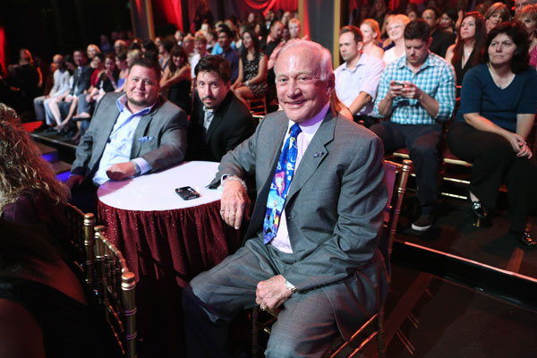 Retired astronaught and &#39;Dancing With The Stars&#39; alum Buzz Aldrin, who was the second man to walk on the moon, attends the season premiere of &#39;Dancing With The Stars: All-Stars,&#39; which aired on September 24, 2012.  <span class=meta>(ABC &#47; Adam Taylor)</span>