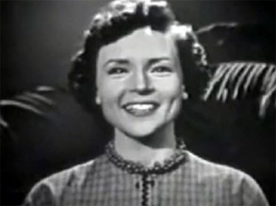 Betty White appears on her NBC show in 1954