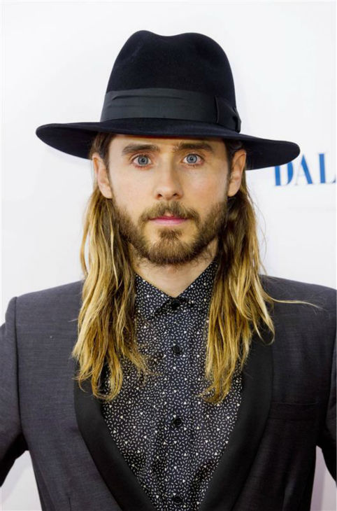 Jared Leto appears at the premiere of &#39;Dallas Buyers Club&#39; in London on Jan. 39, 2014. The actor and Thirty Seconds To Mars singer is nominated for his first Oscar for his role as a transgender HIV-positive patient. <span class=meta>(Jonathan Brady &#47; Abaca &#47; Startraksphoto.com)</span>