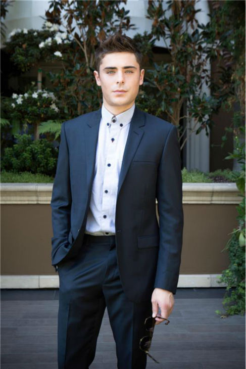 Zac Efron poses during a photo shoot in Los Angeles on Sept. 24, 2012.