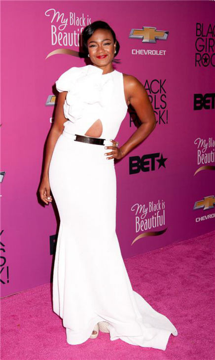 'The Fresh Prince of Bel-Air' alum Tatiana Ali appears at BET's 2013 Black