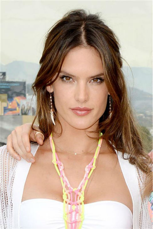 Victoria&#39;s Secret Angel Alessandra Ambrosio models a bikini from the Victoria Secret 2014 Swim Collection in Los Angeles on March 11, 2014. <span class=meta>(Lionel Hahn &#47; Abacausa &#47; Startraksphoto.com)</span>