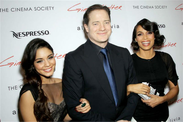 "<div class=""meta ""><span class=""caption-text "">Vanessa Hudgens, Brendan Fraser and Rosario Dawson attend a screening of 'Gimme Shelter' at the Museum of Modern Art New York in New York on Jan. 22, 2014. (Kristina Bumphrey / Startraksphoto.com)</span></div>"