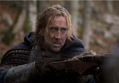 Nicolas Cage in a scene from the 2011 movie, 'Season of the Witch.'