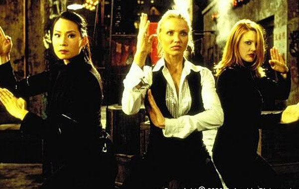 From left: Lucy Liu, Cameron Diaz and Drew Barrymore appears in a scene from the 2000 film, 'Charlie's Angels.'