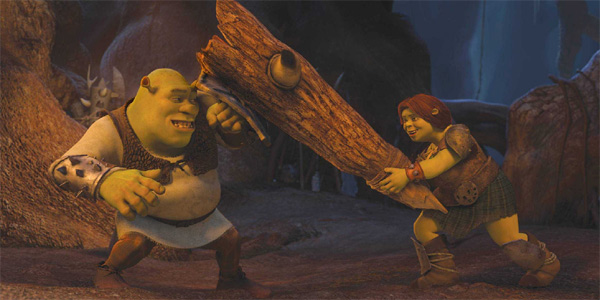 Shrek and Fiona in a scene from the 2010 film, 'Shrek Forever After.'