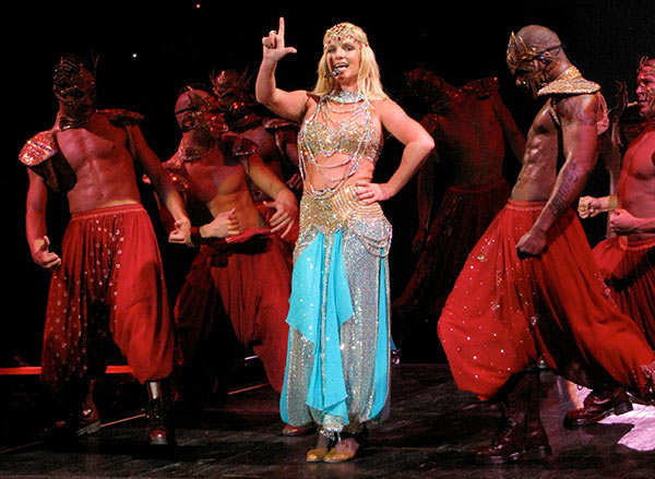 Britney Spears performs a concert at Bell Centre in Montreal as part of her Circus tour on May 5, 2009.
