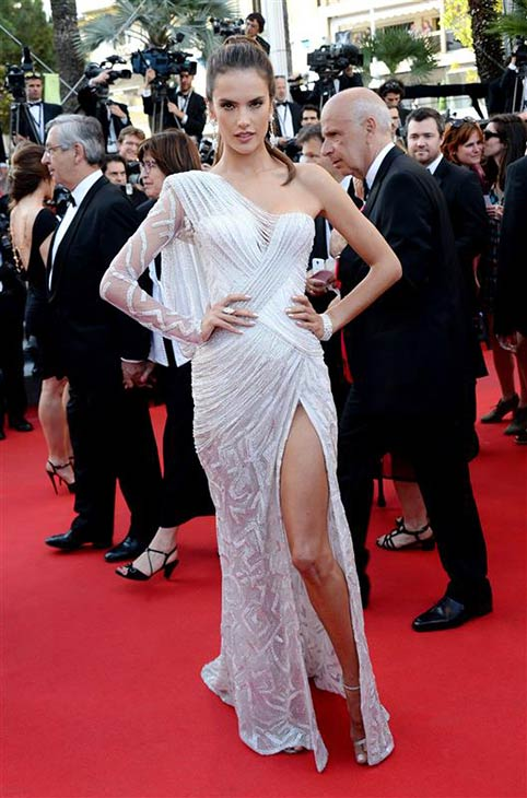 Victoria&#39;s Secret Angel Alessandra Ambrosio appears at the premiere of &#39;Deux Jours, Une Nuit&#39; at the Cannes Film Festival in France on May 20, 2014. <span class=meta>(Nicolas Briquet &#47; Abaca &#47; Startraksphoto.com)</span>