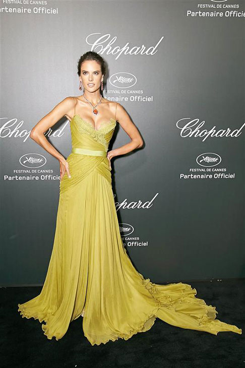 Victoria&#39;s Secret Angel Alessandra Ambrosio appears at a Chopard party at the Cannes Film Festival in France on May 20, 2014. <span class=meta>(Alexander Tuma &#47; Startraksphoto.com)</span>