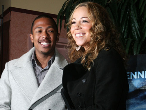 Mariah Carey and Nick Cannon appear at the 2008...