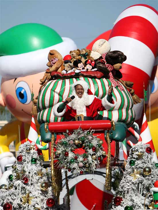"<div class=""meta ""><span class=""caption-text "">Nick Cannon is joined by Disney Channel characters Phineas and Ferb during the taping of the 2011 Disney Parks Christmas Day Parade at Disneyland in Anaheim, California, on Nov. 5, 2011. The show airs Christmas Day, at various times across the country, on ABC.  (Paul Hiffmeyer / Disneyland)</span></div>"