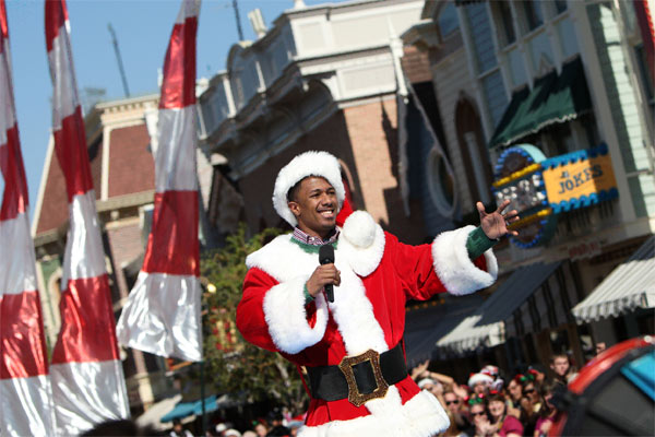 Nick Cannon is joined by Disney Channel characters Phineas and Ferb during the taping of the 2011 Disney Parks Christmas Day Parade at Disneyland in Anaheim, California, on Nov. 5, 2011. The show airs Christmas Day, at various times across the country, on ABC.  <span class=meta>(Paul Hiffmeyer &#47; Disneyland)</span>