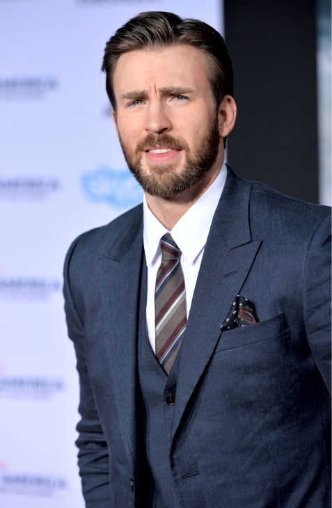 Chris Evans attends the premiere of Marvel&#39;s &#39;Captain America: The Winter Soldier&#39; at the El Capitan Theatre in Hollywood, California on March 13, 2014. He plays Captain America. <span class=meta>(Alberto E. Rodriguez &#47; Getty Images for Disney)</span>