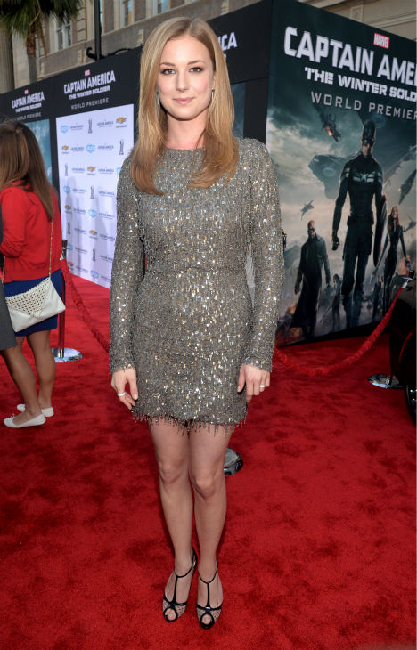 Cast member Emily VanCamp &#40;also known for her role on ABC&#39;s &#39;Revenge&#39;&#41; attends the premiere of Marvel&#39;s &#39;Captain America: The Winter Soldier&#39; at the El Capitan Theatre in Hollywood, California on March 13, 2014. <span class=meta>(Alberto E. Rodriguez &#47; Getty Images for Disney)</span>