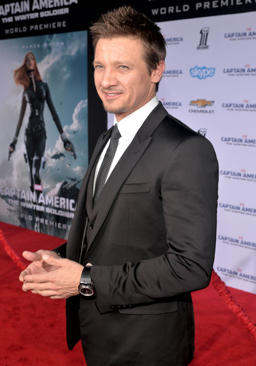 Jeremy Renner &#40;Hawkeye in the &#39;Avengers&#39; movies&#41; attends the premiere of Marvel&#39;s &#39;Captain America: The Winter Soldier&#39; at the El Capitan Theatre in Hollywood, California on March 13, 2014. <span class=meta>(Alberto E. Rodriguez &#47; Getty Images for Disney)</span>
