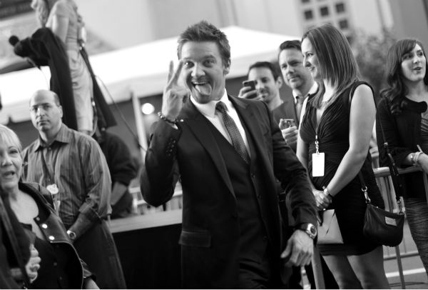 "<div class=""meta ""><span class=""caption-text "">Jeremy Renner (Hawkeye in the 'Avengers' movies) attends the premiere of Marvel's 'Captain America: The Winter Soldier' at the El Capitan Theatre in Hollywood, California on March 13, 2014. (Charley Gallay / Getty Images for Disney)</span></div>"