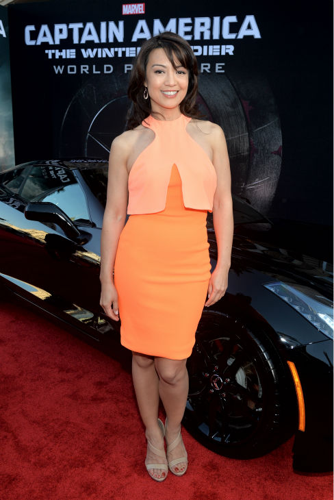 Ming-Na of the ABC series Marvel&#39;s &#39;Agents of S.H.I.E.L.D.&#39; attends the premiere of Marvel&#39;s &#39;Captain America: The Winter Soldier&#39; at the El Capitan Theatre in Hollywood, California on March 13, 2014. <span class=meta>(Alberto E. Rodriguez &#47; Getty Images for Disney)</span>