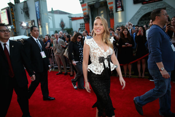 "<div class=""meta image-caption""><div class=""origin-logo origin-image ""><span></span></div><span class=""caption-text"">Scarlett Johansson (who is reportedly pregnant) appears at the premiere of Marvel's 'Captain America: The Winter Soldier' at the El Capitan Theatre in Hollywood, California on March 13, 2014. (Christopher Polk / Getty Images for Disney)</span></div>"