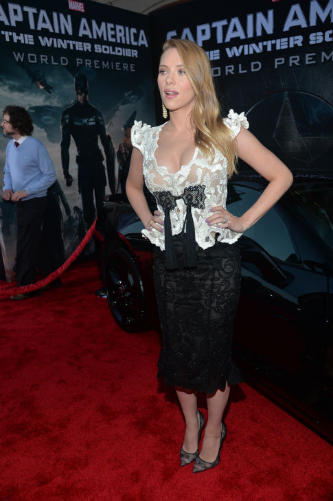 "<div class=""meta image-caption""><div class=""origin-logo origin-image ""><span></span></div><span class=""caption-text"">Scarlett Johansson (who is reportedly pregnant) appears at the premiere of Marvel's 'Captain America: The Winter Soldier' at the El Capitan Theatre in Hollywood, California on March 13, 2014. (Alberto E. Rodriguez / Getty Images for Disney)</span></div>"