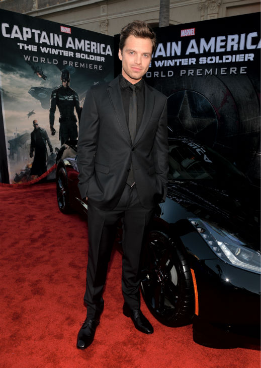 Cast member Sebastian Stan &#40;also know for his role as the Mad Hatter in ABC&#39;s &#39;Once Upon A Time&#39;&#41; attends the premiere of Marvel&#39;s &#39;Captain America: The Winter Soldier&#39; at the El Capitan Theatre in Hollywood, California on March 13, 2014. <span class=meta>(Alberto E. Rodriguez &#47; Getty Images for Disney)</span>