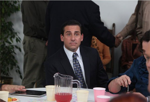 Steve Carell in a scene from the American version of 'The Office.'
