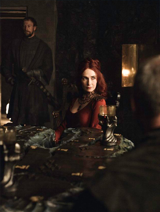 "<div class=""meta ""><span class=""caption-text "">Carice van Houten appears as Melisandre in a scene from season 3 of the HBO show 'Game of Thrones.' (Helen Sloan / HBO)</span></div>"