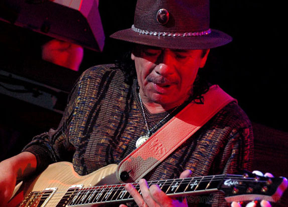 Carlos Santana performs at the 2011 Java Jazz...