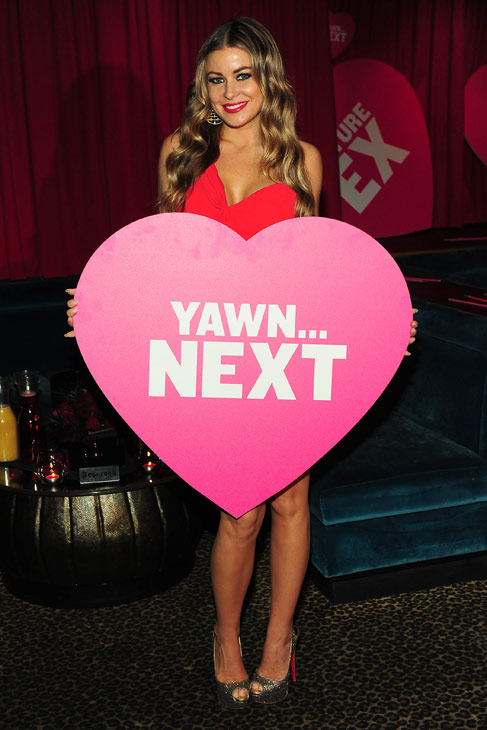 "<div class=""meta ""><span class=""caption-text "">Carmen Electra appears at SVEDKA Vodka's Anti-Valentine's Day Bash at AGENCY Boutique Nightclub in Los Angeles on Jan. 31, 2012. The actress and television personality's exes include basketball star Dennis Rodman, who was married to her for less than a year, starting in 1998, and rock guitarist Dave Navarro. The two wed in 2003 and separated in 2006. Their divorce was finalized in February 2007. (Michael Williams / StarTraksPhoto.com)</span></div>"