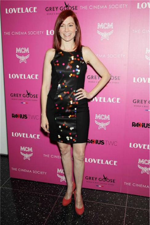 'True Blood' star Carrie Preston attends a screening of 'Lovelace,' hosted by the Cinema Society and MCM with Grey Goose, at the Metropolitan Museum of Art (MoMa) in New York on July 30, 2013.
