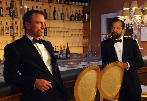 Pictured: Daniel Craig and Jeffrey Wright appear in a scene from the 2006 film 'Casino Royale.'