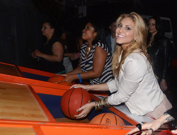 Cassie Scerbo of the ABC Family show &#39;Make It Or Break It&#39; attends the launch of the 2012 Jeep Wrangler Unlimited Altitude Edition at the Los Angeles Center Studios on April 22, 2012. Jeep is a sponsor of USA Basketball. Celebrities shot baskets at the Pop-a-Shot and danced to beats spun by DJ Biz Markie. <span class=meta>(WireImage &#47; Chris Weeks)</span>