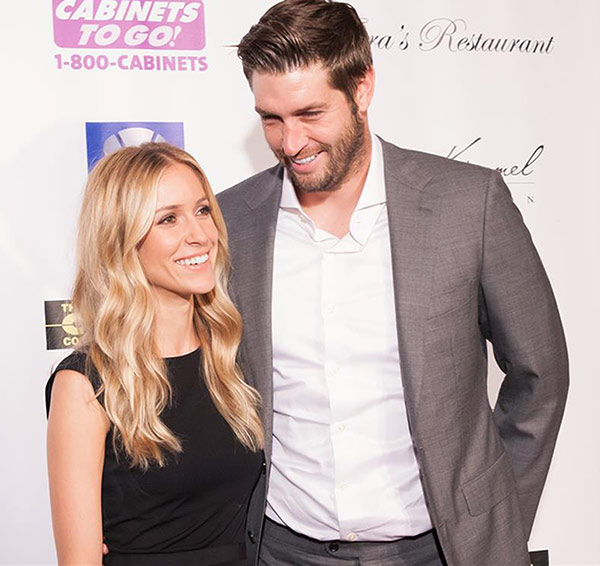 Kristin Cavallari and Jay Cutler appear at a 'Dancing With The Stars' charity event to benefit the Bridges Academy in St. Charles, hosted by Jenny McCarthy, in St. Charles, Illinois on Aug. 24, 2013.