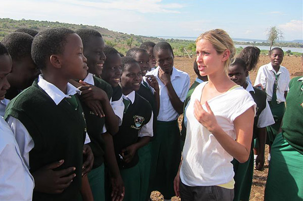 Kristin Cavallari &#40;&#39;The Hills&#39;&#41; visits school kids in Kenya to support the OneKid OneWorld charity on April 13, 2011. <span class=meta>(Norman Scott &#47; startraksphoto.com)</span>