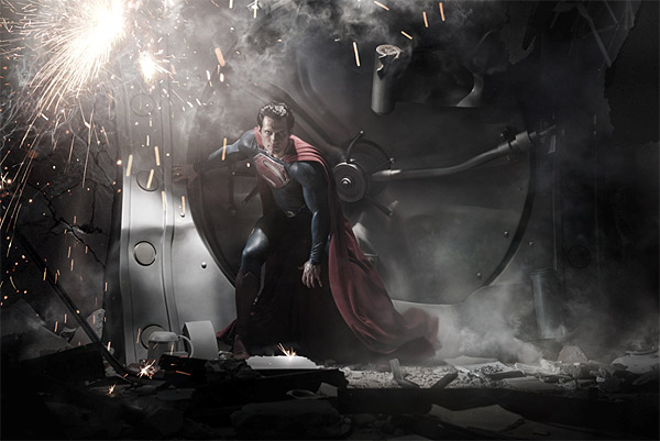 Hendry Cavill appears as Superman in a scene...