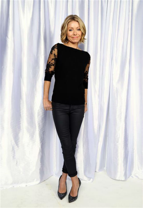 Kelly Ripa poses in a holiday-themed photo booth at Z100&#39;s Jingle Ball 2013 on Dec. 13, 2013, just before Christmas. <span class=meta>(Sara Jaye Weiss  &#47; Startraksphoto.com)</span>