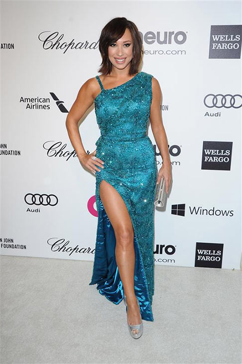 "<div class=""meta ""><span class=""caption-text "">Cheryl Burke of 'Dancing With The Stars' appears at the 2014 Elton John AIDS Foundation's Oscar party in Los Angeles, California on March 2, 2014. (HOLLYWOOD PRESS / Abusa/ Startraksphoto.com)</span></div>"
