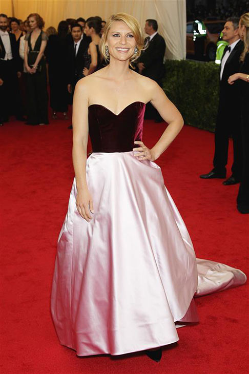 Claire Danes appears at the Metropolitan Museum of Art&#39;s 2014 Costume Institute Benefit gala, celebrating &#39;Charles James: Beyond Fashion,&#39; in New York on May 5, 2014. <span class=meta>(Marion Curtis &#47; Startraksphoto.com)</span>