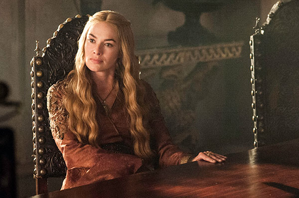 Lena Headey appears as the ruthless Cersei Lannister in a scene from season 3 of the HBO series 'Game of Thrones.'